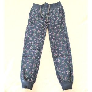 C R B Girl Bottoms - Sz 10/12 floral sweatpants / joggers
